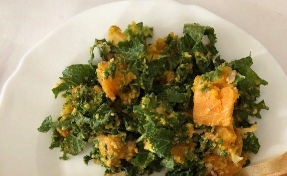 Salade de Chou Kale au Potimarron
